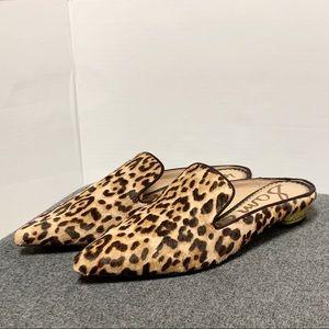 Sam Edelman Animal Leopard Pointed Toe Mule 6.5